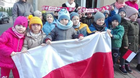 Wspólne odśpiewanie hymnu Polski